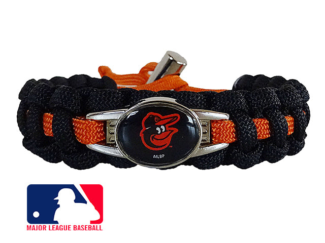 Officially Licensed MLB Baltimore Orioles Paracord Bracelet