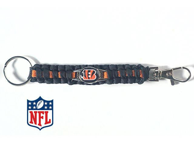 Officially Licensed Cincinnati Bengals NFL Paracord Keychain