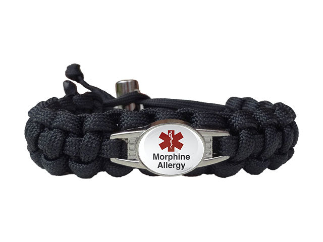 Medical ID Morphine Allergy Paracord Bracelet