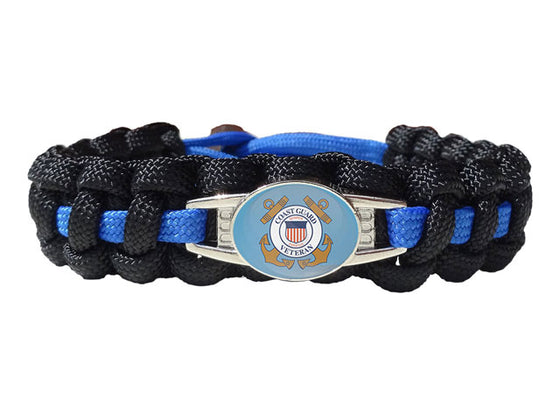 Coast Guard Veteran Paracord Bracelet
