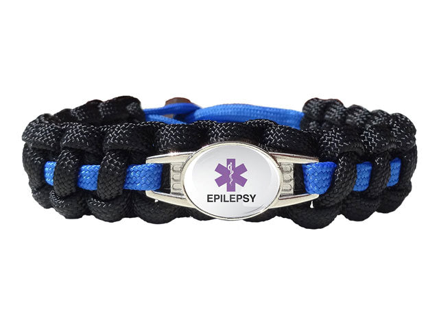 Medical Id Epilepsy Paracord Bracelet Handmade By Us