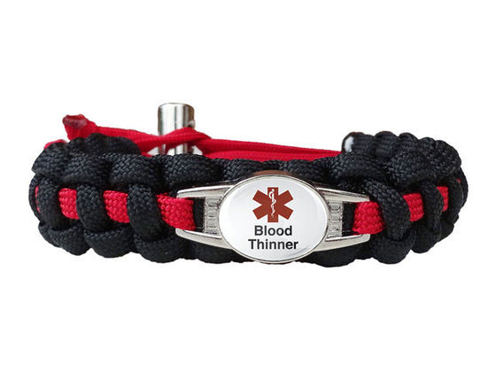 Medical ID Blood Thinner Paracord Bracelet
