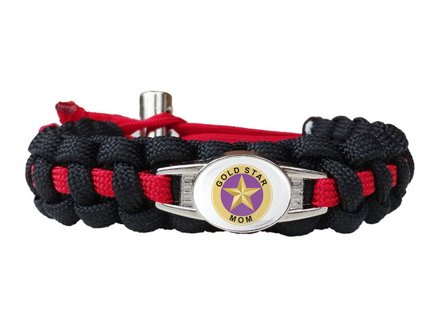 Gold Star Mom Paracord Bracelet
