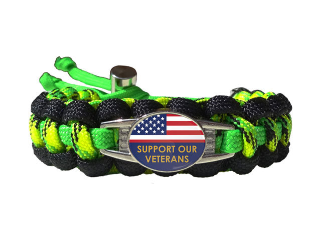 Support Our Veterans Paracord Bracelet
