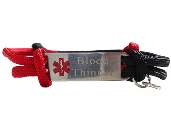 "Blood Thinner ""Alert Your Medicool"" Alert Bracelet"