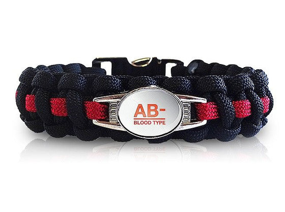 Blood Type Medical ID Bracelet (Choose Your Own Color)