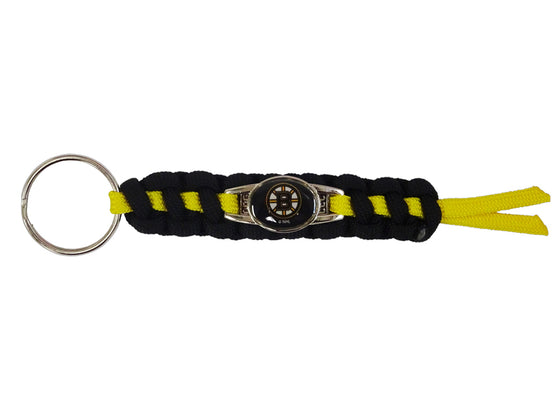 Officially Licensed Boston Bruins NHL Paracord Mini Keychain