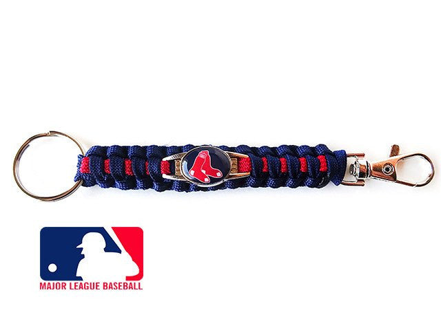 Boston Red Sox Paracord Bracelet with licensed Charm