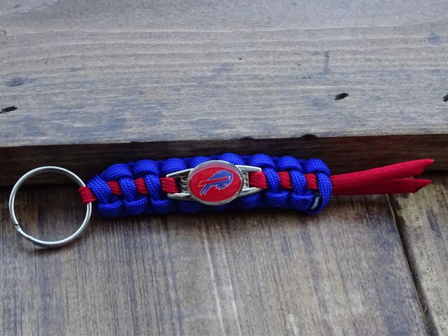 Officially Licensed Buffalo Bills NFL Paracord Mini Keychain