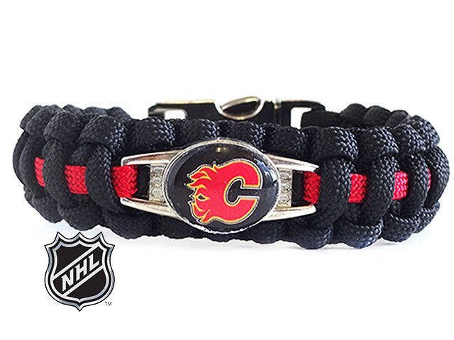 Officially Licensed NHL Calgary Flames Paracord Bracelet