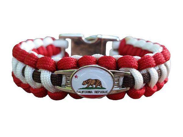 handmade by heros california state paracord bracelet handmade by us 4110