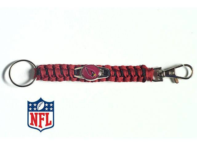 Officially Licensed Arizona Cardinals NFL Paracord Keychain