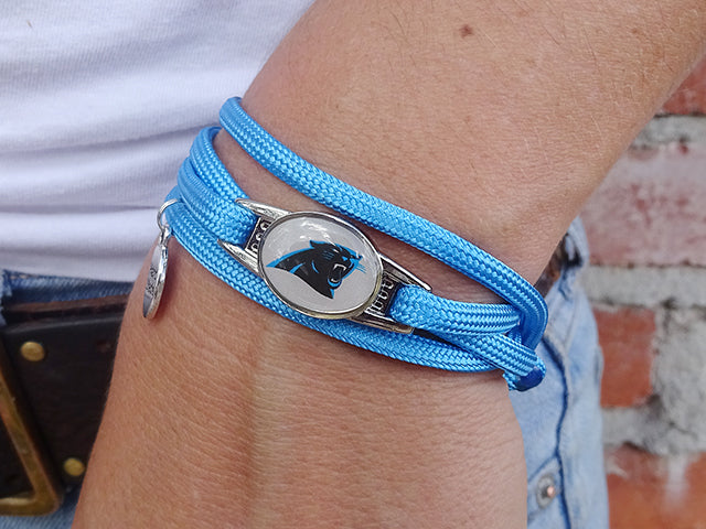 Carolina Panthers Officially Licensed Designer Wrap Bracelet