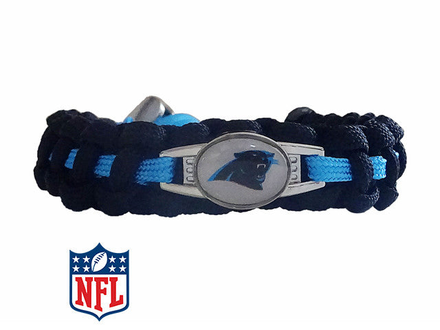 Carolina Panthers Paracord Bracelet Handmade By Us