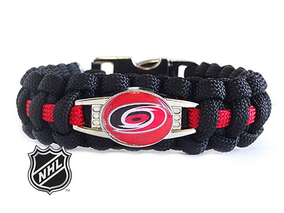 Officially Licensed NHL Carolina Hurricanes Paracord Bracelet