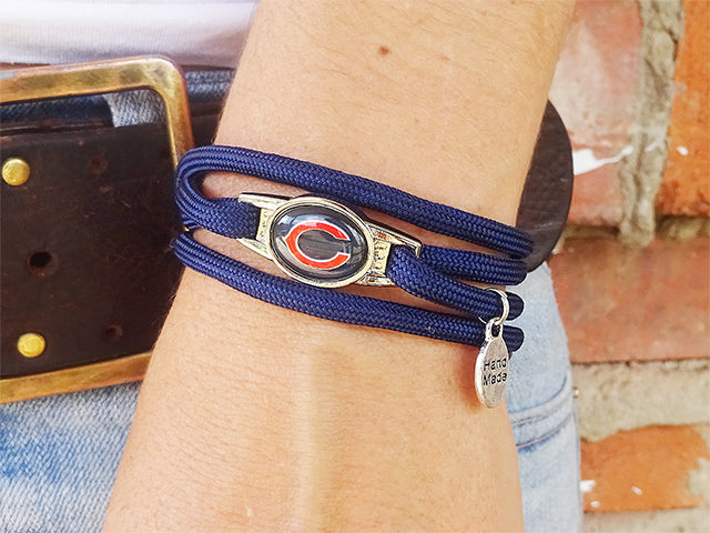 Chicago Bears Officially Licensed Designer Wrap Bracelet