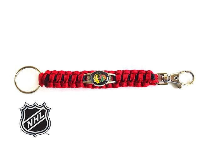 Offically Licensed NHL Chicago Blackhawks Paracord Key Fob