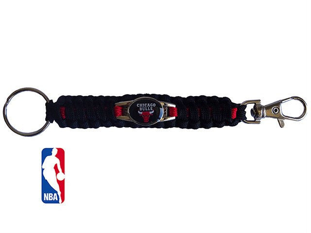 Officially Licensed NBA Chicago Bulls Paracord Keychain