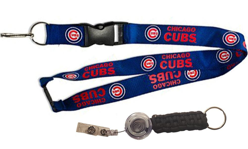 Officially Licensed MLB Chicago Cubs Lanyard with Paracord Badge Reel Attachment