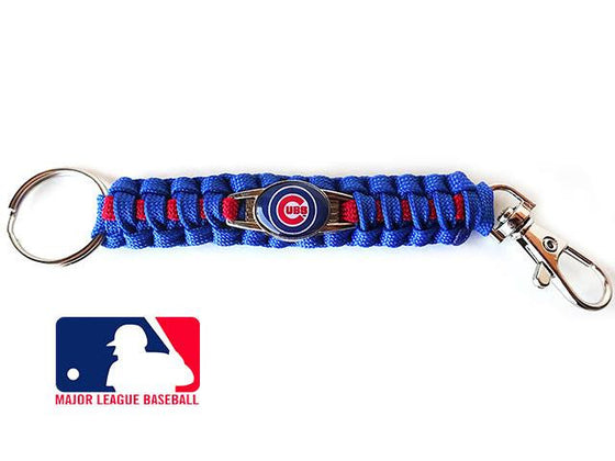 Offically Licensed MLB Chicago Cubs Paracord Keychain