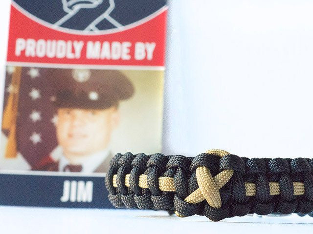 Childhood Cancer Awareness Paracord Bracelet