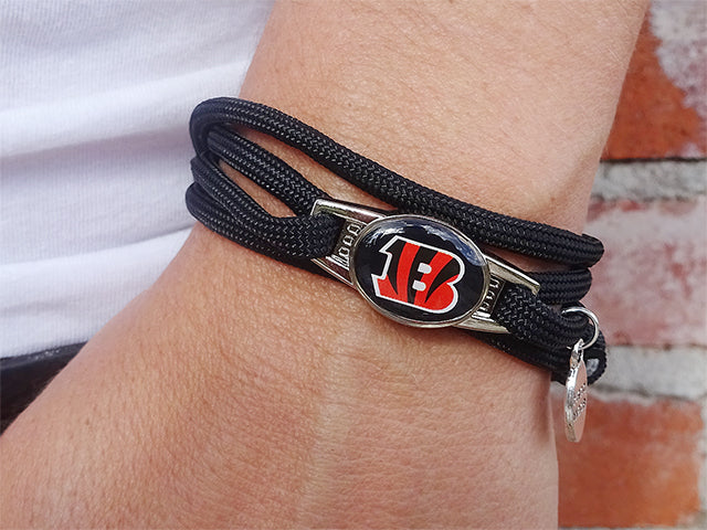 Cincinnati Bengals Officially Licensed Designer Wrap Bracelet