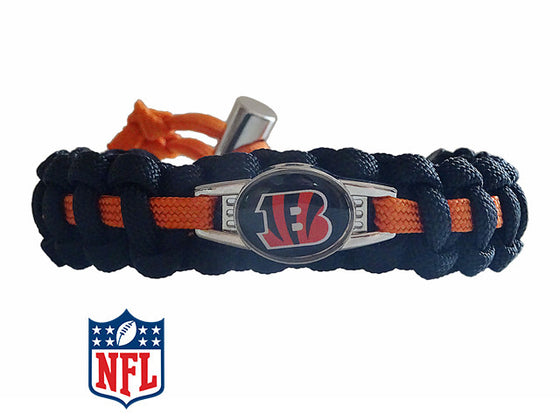 Officially Licensed NFL Cincinnati Bengals Paracord Bracelet