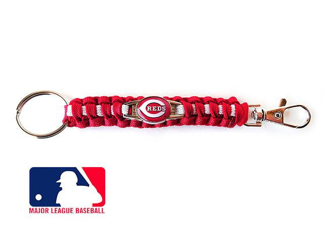 Offically Licensed MLB Cincinnati Reds Paracord Key Fob