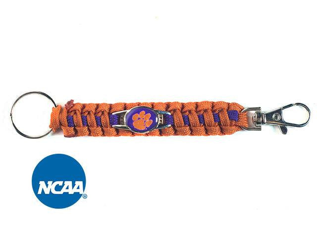 Officially Licensed Clemson Tigers Paracord Keychain