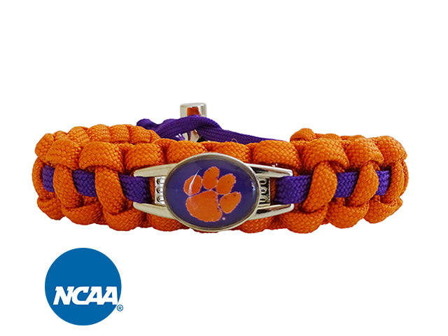 Officially Licensed Clemson Tigers Paracord Bracelet