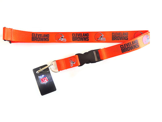 Officially Licensed NFL Cleveland Browns Lanyard with Paracord Badge Reel Attachment