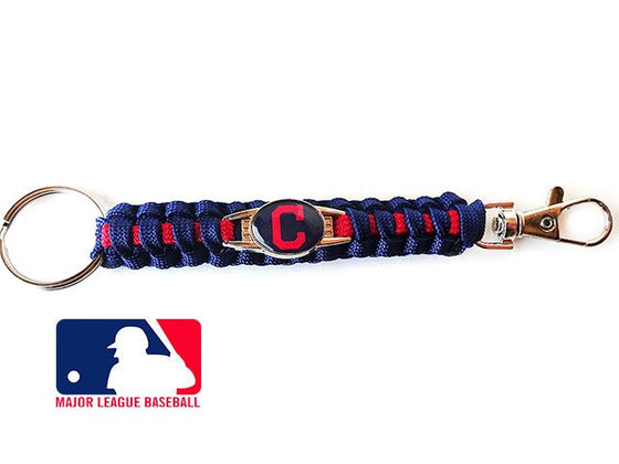 Offically Licensed MLB Cleveland Indians Paracord Key Fob