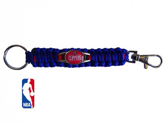 Officially Licensed NBA Los Angeles Clippers Paracord Keychain