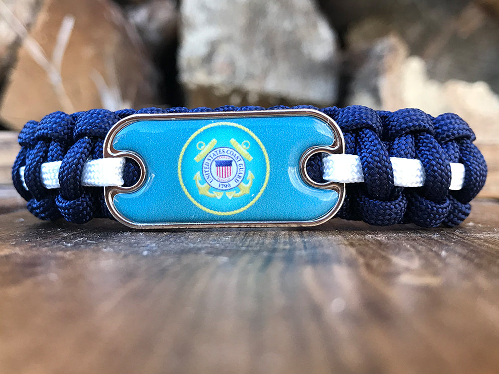 Coast Guard Dog Tag Paracord Bracelet