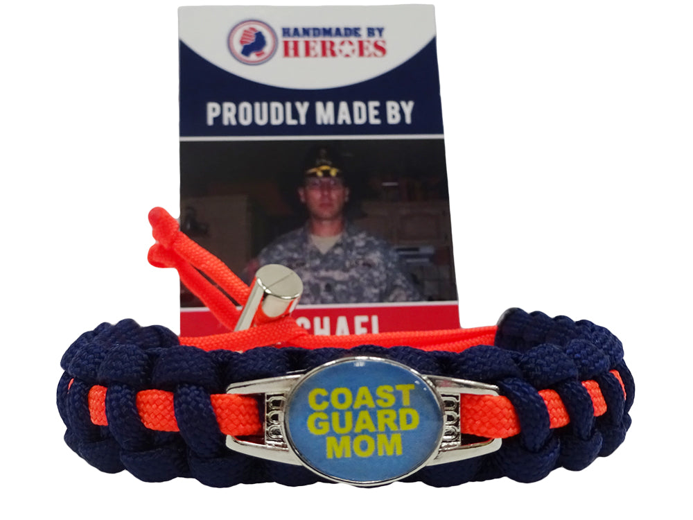 Coast Guard Mom Paracord Bracelet