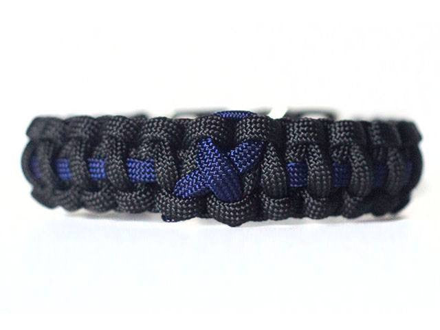 Colon Cancer Awareness Paracord Bracelet Handmade By Us Veterans Handmade By Heroes