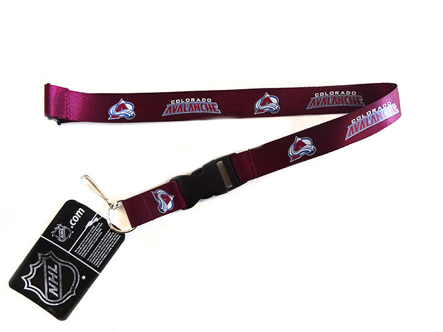 Officially Licensed NHL Colorado Avalanche Lanyard with Paracord Badge Reel Attachment