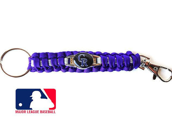 Offically Licensed MLB Colorado Rockies Paracord Key Fob