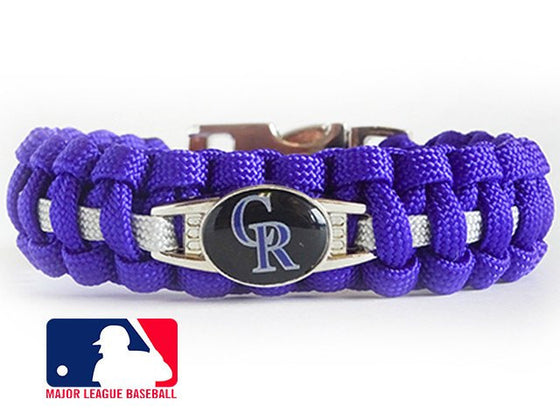 Officially Licensed MLB Colorado Rockies Paracord Bracelet