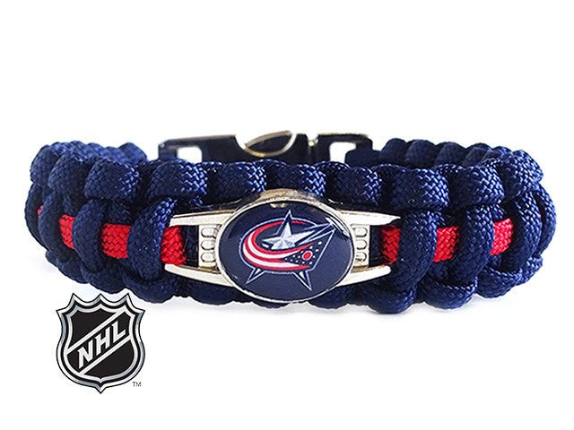 Officially Licensed NHL Columbus Blue Jackets Paracord Bracelet