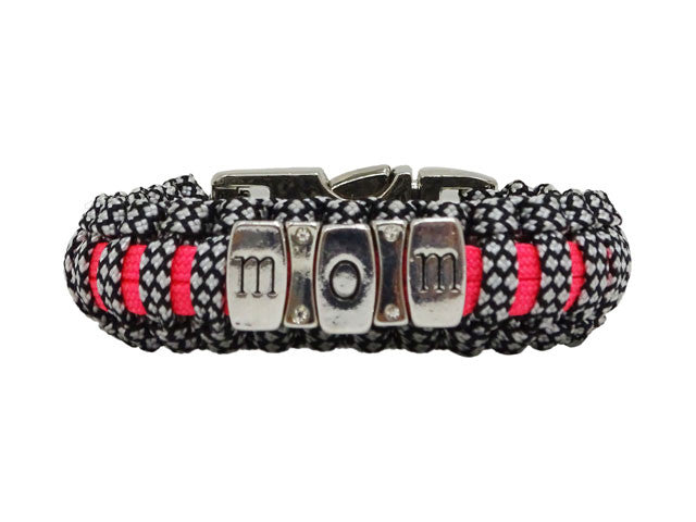 Warrior Mom Bracelet with Metal Clasp