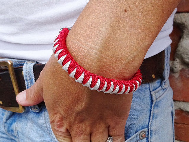 Imperial Red & White Fanatical Lady Luck Bracelet