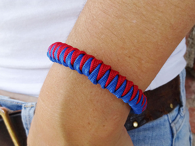 Imperial Red & Royal Blue Fanatical Lady Luck Bracelet