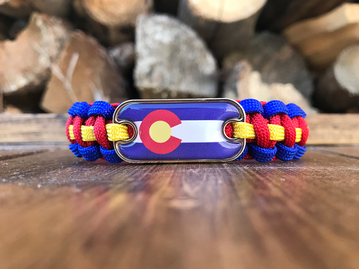 Colorado Dog Tag Paracord Bracelet