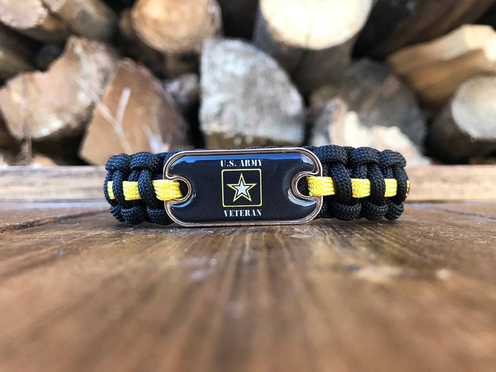 US Army Veteran Dog Tag Paracord Bracelet