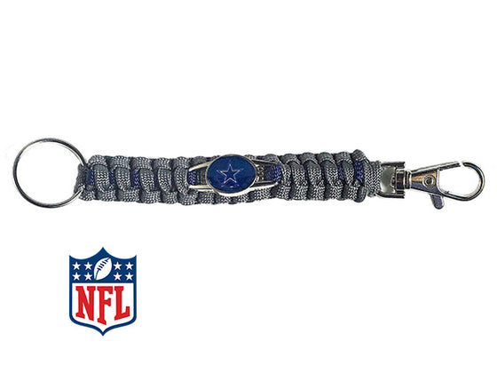 Officially Licensed Dallas Cowboys NFL Paracord Keychain
