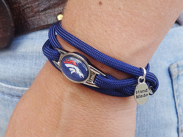 Denver Broncos Officially Licensed Designer Wrap Bracelet