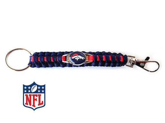 Officially Licensed Denver Broncos NFL Paracord Keychain