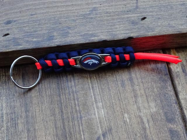 Officially Licensed Denver Broncos NFL Paracord Mini Keychain