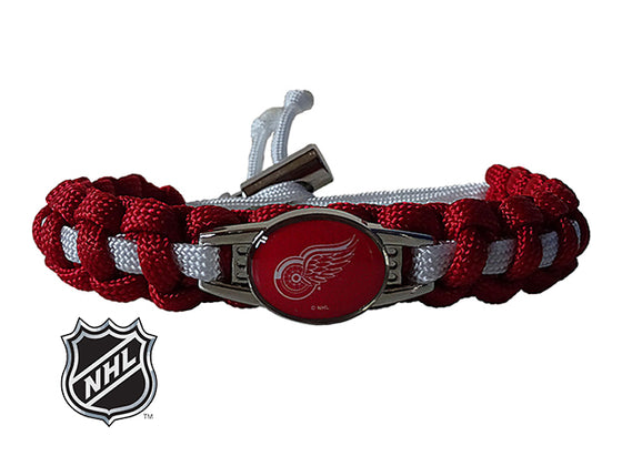 Officially Licensed NHL Detroit Red Wings Paracord Bracelet